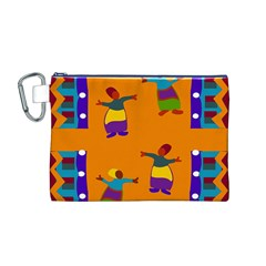 A Colorful Modern Illustration For Lovers Canvas Cosmetic Bag (M)