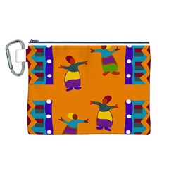 A Colorful Modern Illustration For Lovers Canvas Cosmetic Bag (L)