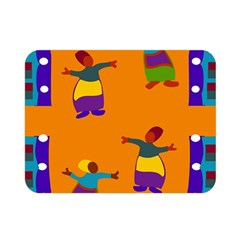 A Colorful Modern Illustration For Lovers Double Sided Flano Blanket (mini)