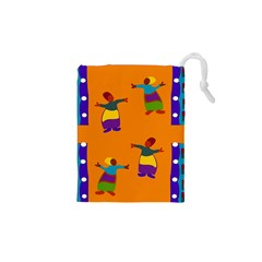A Colorful Modern Illustration For Lovers Drawstring Pouches (xs)