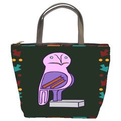 Owl A Colorful Modern Illustration For Lovers Bucket Bags