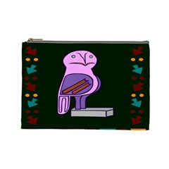 Owl A Colorful Modern Illustration For Lovers Cosmetic Bag (large)