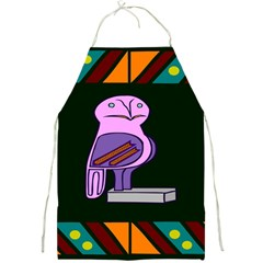 Owl A Colorful Modern Illustration For Lovers Full Print Aprons