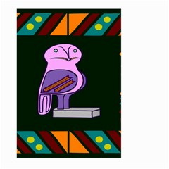 Owl A Colorful Modern Illustration For Lovers Large Garden Flag (Two Sides)