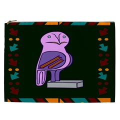 Owl A Colorful Modern Illustration For Lovers Cosmetic Bag (XXL)