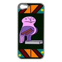Owl A Colorful Modern Illustration For Lovers Apple iPhone 5 Case (Silver)