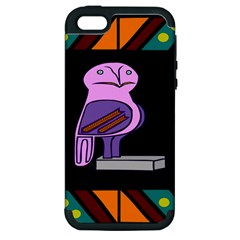 Owl A Colorful Modern Illustration For Lovers Apple Iphone 5 Hardshell Case (pc+silicone)