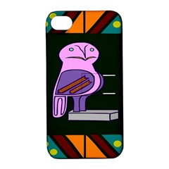 Owl A Colorful Modern Illustration For Lovers Apple Iphone 4/4s Hardshell Case With Stand