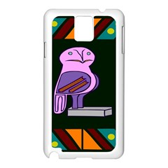 Owl A Colorful Modern Illustration For Lovers Samsung Galaxy Note 3 N9005 Case (White)