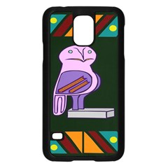 Owl A Colorful Modern Illustration For Lovers Samsung Galaxy S5 Case (Black)