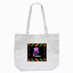 Owl A Colorful Modern Illustration For Lovers Tote Bag (White)