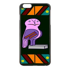 Owl A Colorful Modern Illustration For Lovers Apple iPhone 6 Plus/6S Plus Black Enamel Case