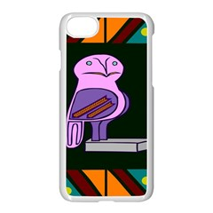 Owl A Colorful Modern Illustration For Lovers Apple Iphone 7 Seamless Case (white)