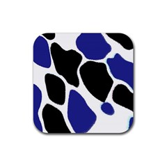 Digital Pattern Colorful Background Art Rubber Square Coaster (4 Pack)