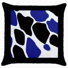 Digital Pattern Colorful Background Art Throw Pillow Case (Black)