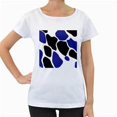 Digital Pattern Colorful Background Art Women s Loose Fit T Shirt (white)