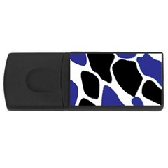 Digital Pattern Colorful Background Art Usb Flash Drive Rectangular (4 Gb)