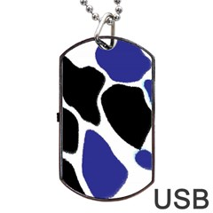 Digital Pattern Colorful Background Art Dog Tag USB Flash (One Side)