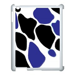 Digital Pattern Colorful Background Art Apple iPad 3/4 Case (White)
