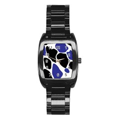 Digital Pattern Colorful Background Art Stainless Steel Barrel Watch