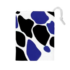Digital Pattern Colorful Background Art Drawstring Pouches (Large)