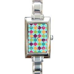Colorful Quatrefoil Pattern Wallpaper Background Design Rectangle Italian Charm Watch