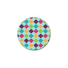 Colorful Quatrefoil Pattern Wallpaper Background Design Golf Ball Marker (10 pack)