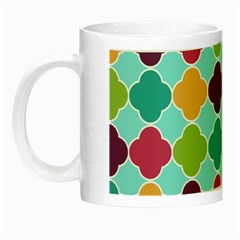 Colorful Quatrefoil Pattern Wallpaper Background Design Night Luminous Mugs