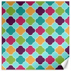 Colorful Quatrefoil Pattern Wallpaper Background Design Canvas 20  X 20