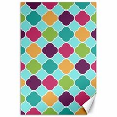Colorful Quatrefoil Pattern Wallpaper Background Design Canvas 24  X 36