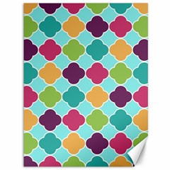 Colorful Quatrefoil Pattern Wallpaper Background Design Canvas 36  X 48