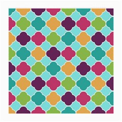 Colorful Quatrefoil Pattern Wallpaper Background Design Medium Glasses Cloth