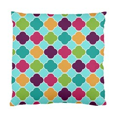 Colorful Quatrefoil Pattern Wallpaper Background Design Standard Cushion Case (two Sides)