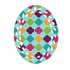 Colorful Quatrefoil Pattern Wallpaper Background Design Ornament (oval Filigree)