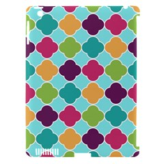Colorful Quatrefoil Pattern Wallpaper Background Design Apple iPad 3/4 Hardshell Case (Compatible with Smart Cover)