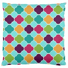 Colorful Quatrefoil Pattern Wallpaper Background Design Large Cushion Case (One Side)