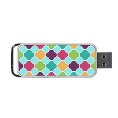 Colorful Quatrefoil Pattern Wallpaper Background Design Portable USB Flash (Two Sides)