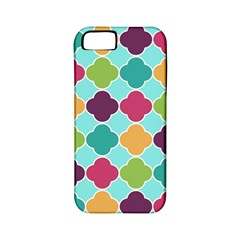 Colorful Quatrefoil Pattern Wallpaper Background Design Apple Iphone 5 Classic Hardshell Case (pc+silicone)
