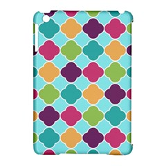 Colorful Quatrefoil Pattern Wallpaper Background Design Apple iPad Mini Hardshell Case (Compatible with Smart Cover)