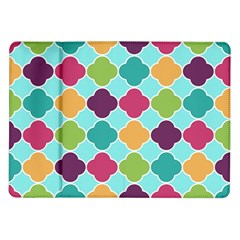 Colorful Quatrefoil Pattern Wallpaper Background Design Samsung Galaxy Tab 10.1  P7500 Flip Case