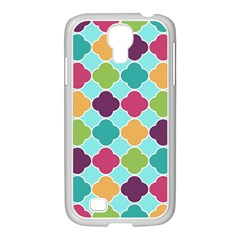 Colorful Quatrefoil Pattern Wallpaper Background Design Samsung GALAXY S4 I9500/ I9505 Case (White)