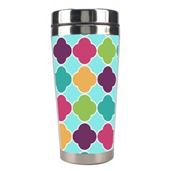 Colorful Quatrefoil Pattern Wallpaper Background Design Stainless Steel Travel Tumblers