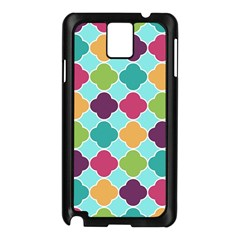 Colorful Quatrefoil Pattern Wallpaper Background Design Samsung Galaxy Note 3 N9005 Case (Black)