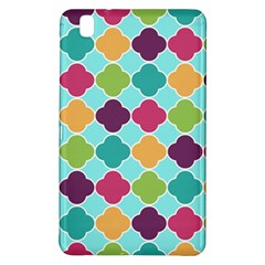 Colorful Quatrefoil Pattern Wallpaper Background Design Samsung Galaxy Tab Pro 8.4 Hardshell Case