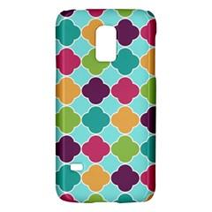 Colorful Quatrefoil Pattern Wallpaper Background Design Galaxy S5 Mini