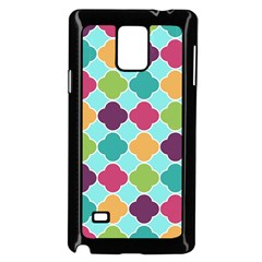 Colorful Quatrefoil Pattern Wallpaper Background Design Samsung Galaxy Note 4 Case (black)