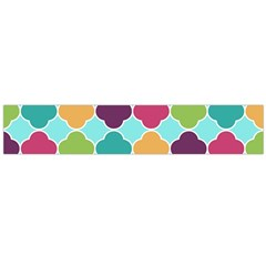 Colorful Quatrefoil Pattern Wallpaper Background Design Flano Scarf (Large)