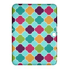 Colorful Quatrefoil Pattern Wallpaper Background Design Samsung Galaxy Tab 4 (10 1 ) Hardshell Case