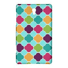Colorful Quatrefoil Pattern Wallpaper Background Design Samsung Galaxy Tab S (8 4 ) Hardshell Case