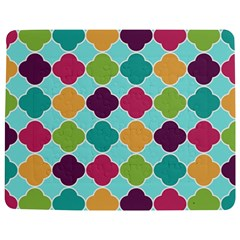 Colorful Quatrefoil Pattern Wallpaper Background Design Jigsaw Puzzle Photo Stand (rectangular)